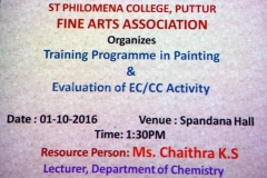 Painting Training Programme and Evaluation of EC/CC Activity